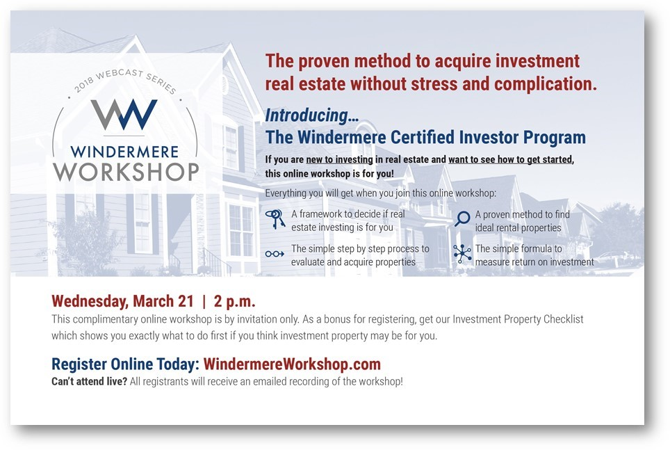 Windermere Workshop - Investing in Real Estate