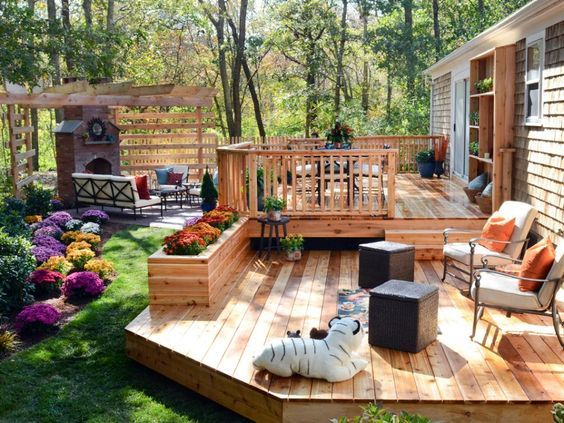 Three Deck Design Ideas To Get Your Yard Ready For Summer Fort Best Backyard Deck Design Property